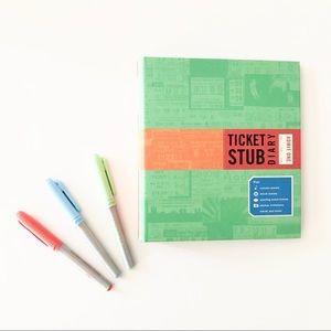 New Ticket Stub Diary Scrapbook Journal